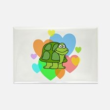 Turtle Hearts Rectangle Magnet (10 pack)