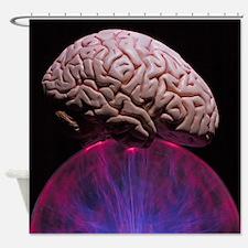 Cute Funny brain Shower Curtain