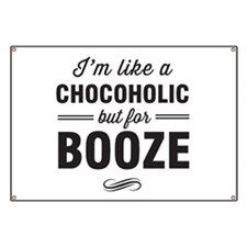 Chocoholic but for booze Banner