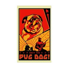 Obey the Pug-Dog! #3 Rectangle Decal