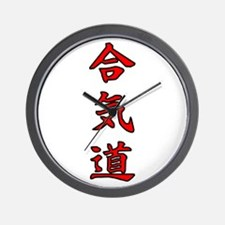 Aikido Kanji Wall Clock