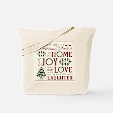 Vintage Christmas word collage Tote Bag