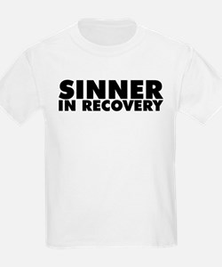 Sinner in Recovery Bold T-Shirt