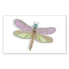 Lavender and Green Dragonfly Decal