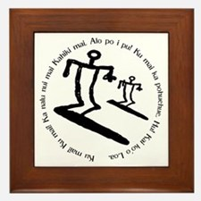 Whammy Surf Petroglyph & Pray Framed Tile