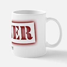 Sinner Stencil Red Mug