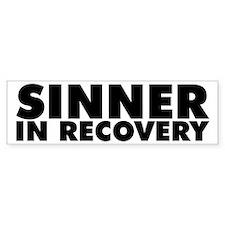 Sinner in Recovery Bold Bumper Bumper Sticker