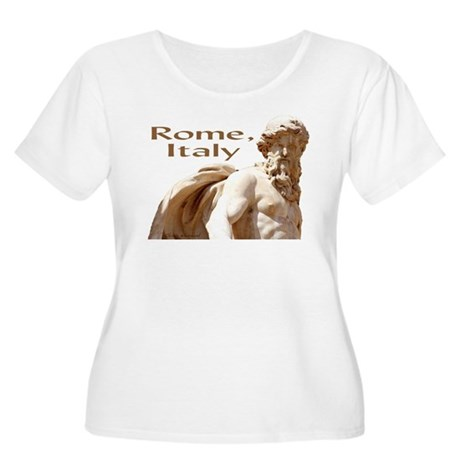 """Rome"" Trevi Statue Women's Plus Size Scoop Neck T"