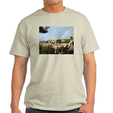 Rainbow over Pompeii Light T-Shirt