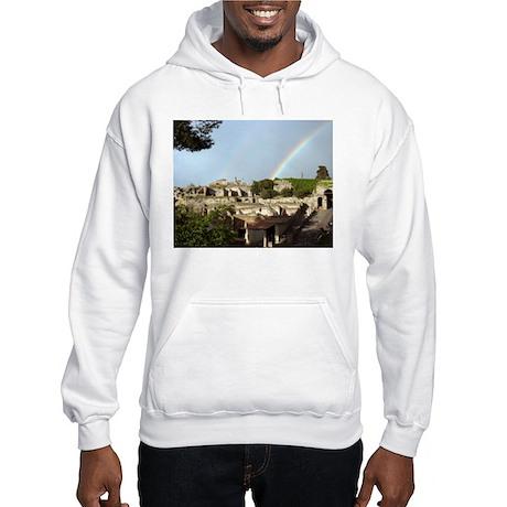 Rainbow over Pompeii Hooded Sweatshirt