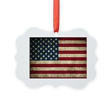 USA Flag - Grunge Ornament