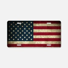 USA Flag - Grunge Aluminum License Plate
