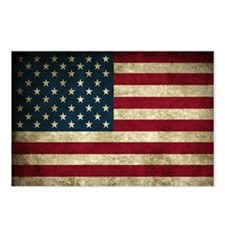 USA Flag - Grunge Postcards (Package of 8)