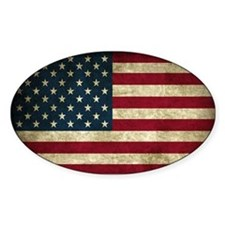 USA Flag - Grunge Decal