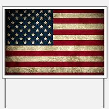 USA Flag - Grunge Yard Sign