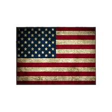 USA Flag - Grunge 5'x7'Area Rug