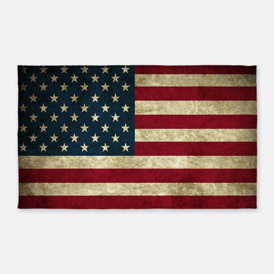 USA Flag - Grunge 3'x5' Area Rug