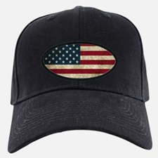 USA Flag - Grunge Baseball Hat