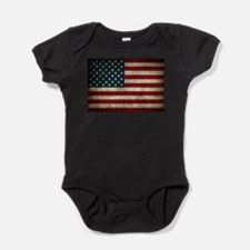 USA Flag - Grunge Baby Bodysuit