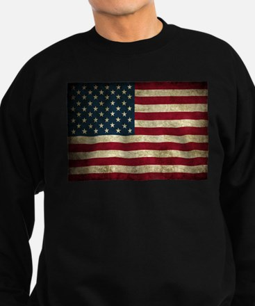 USA Flag - Grunge Sweatshirt