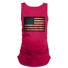 USA Flag - Grunge Maternity Tank Top