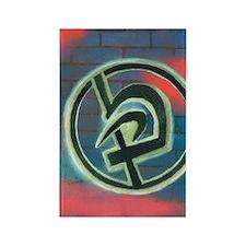 Krav Maga Graffiti Rectangle Magnet