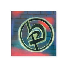 """Krav Maga Graffiti Square Sticker 3"""" x 3"""""""
