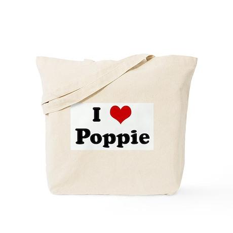 I Love Poppie Tote Bag