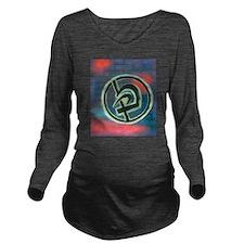 Krav Maga Graffiti Long Sleeve Maternity T-Shirt