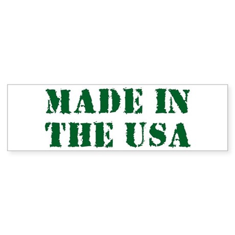 Made in the USA Bumper Sticker