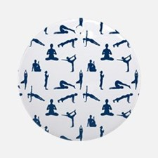 Yoga Positions Round Ornament