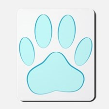 Blue Dog Pawprint Mousepad