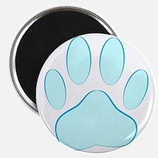 Blue Dog Pawprint Magnet