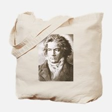 Beethoven In Sepia Tote Bag