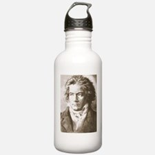 Beethoven In Sepia Water Bottle