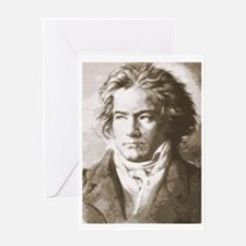 Beethoven In Sepia Greeting Card