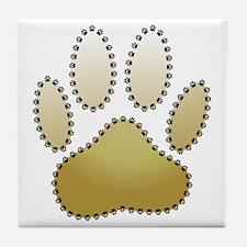 100% Dog Pawprint Tile Coaster