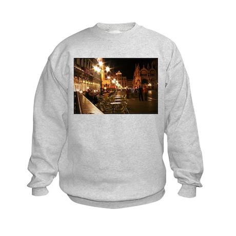 Venice Church Plaza w/tables Kids Sweatshirt