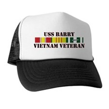Vietnam Veteran USS Barry Trucker Hat