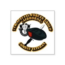 "7th Special Forces - Combat Square Sticker 3"" x 3"""
