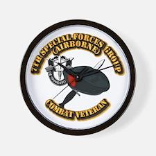 7th Special Forces - Combat Vet Wall Clock