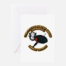 7th Special Forces - Combat Vet Greeting Card