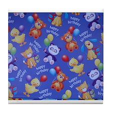 BIRTHDAY ANIMAL THEME Tile Coaster