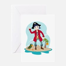 The pirate kid Greeting Cards