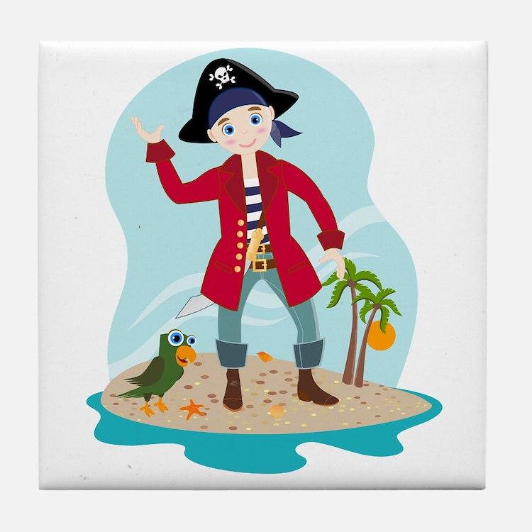 The pirate kid Tile Coaster