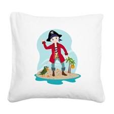 The pirate kid Square Canvas Pillow