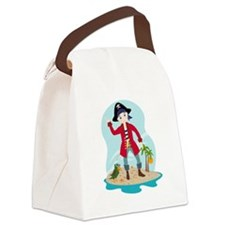 The pirate kid Canvas Lunch Bag