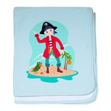The pirate kid baby blanket
