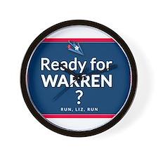Ready for Warren? Wall Clock