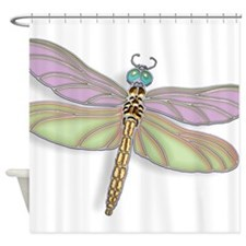 Dragonfly flying damselfly insect bug gold jewel bathroom accessories